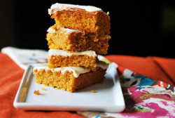 Unbelievable Frosted Pumpkin Bars