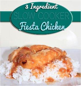 3 Ingredient Slow Cooker Fiesta Chicken