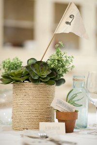 Seaside Rope and DIY Wedding Centerpieces