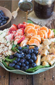 Almond-Berry-and-Chicken-Spinach-Salad