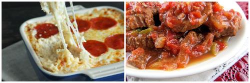 Secret Ingredient Pizza Casserole, Melt-In-Your-Mouth Swiss Steak