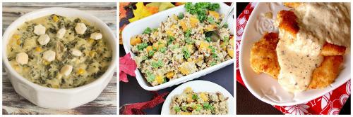 Chicken Gnocchi Soup, Autumn Harvest Casserole, Butter Cream Chicken