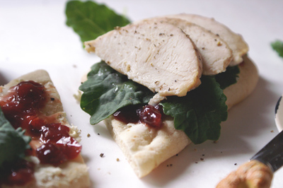 Copycat Panera Turkey Cranberry Flatbread Sandwich