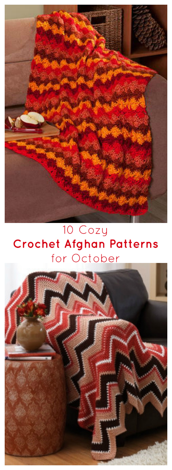 10 Cozy Crochet Afghan Patterns for October - Cheap Eats and Thrifty ...