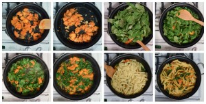 Butternut Squash Kale Pasta recipe by Marie Segares for Cheap Eats Thrifty Crafts collage