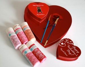 2 materials - valentine boxes