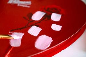 4 valentine boxes paint
