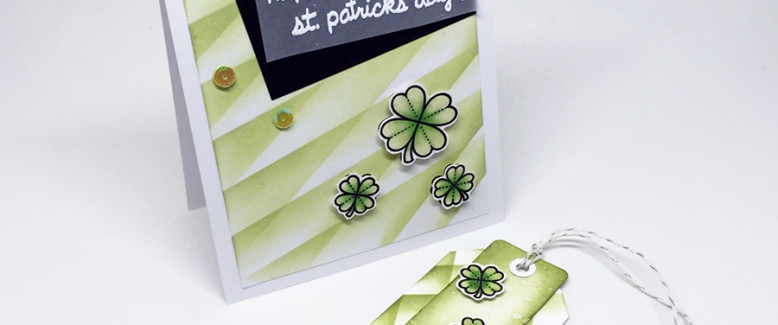Homemade Card: Create Simple and Custom Backgrounds for St. Patrick's Day!
