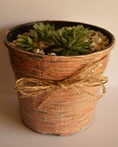 Faux Wooden Flower Pot5
