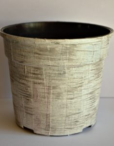Faux Wooden Flower Pot2