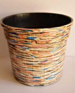 Faux Wooden Flower Pot3