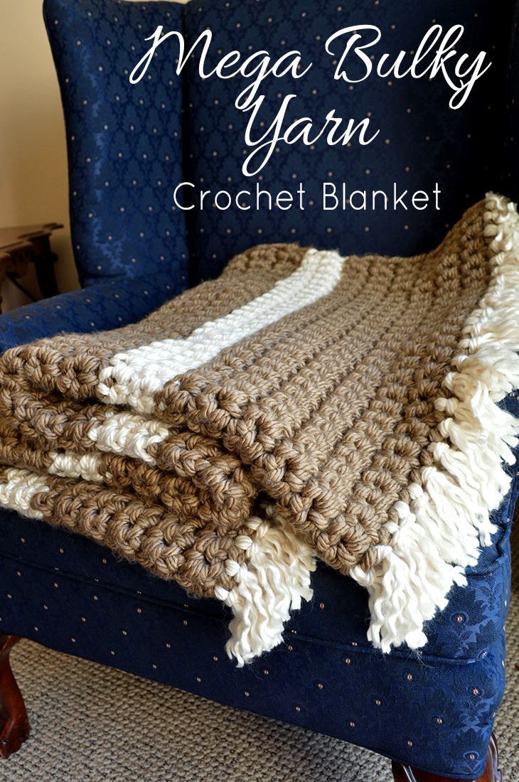 Mega Bulky Yarn Crochet Blanket Craft Tutorial Free Pattern