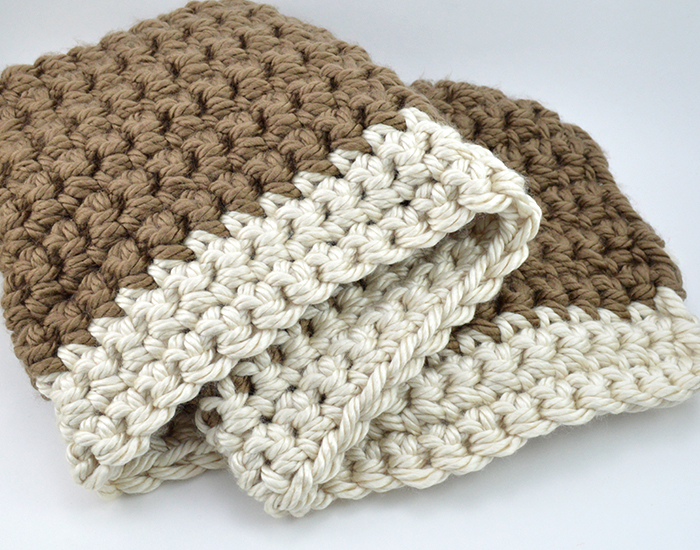 Mega Bulky Yarn Crochet Blanket Color B