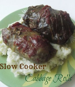 All-Day Slow Cooker Cabbage Rolls