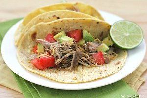 Slow Cooker Chili Lime Shredded Pork Tacos