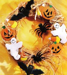 Brown Bag Halloween Wreath