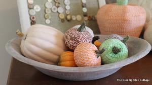 Tiny Twine Pumpkins