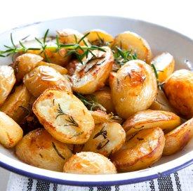 Effortless Garlic Roasted Potatoes