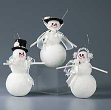 Glitter Snow Ornaments