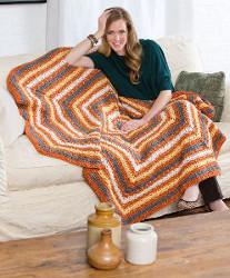 Pumpkin Spice Crochet Afghan
