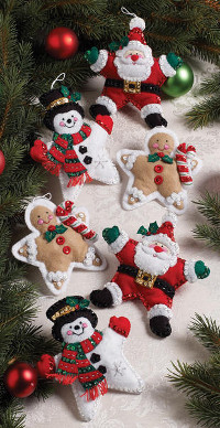Christmas-Stars-Ornaments-Felt-Applique-Kit