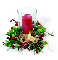 Holiday Candle Wreath