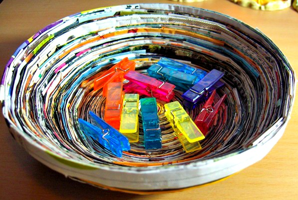 Recycled Paper Crafts With Sheet Music Magazines And More