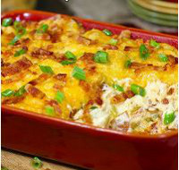 Fully Loaded Cheesy Potato Casserole