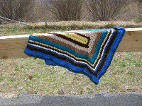 Beautiful Striped Afghan