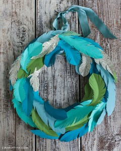 Ruffle Your Feathers Wreath