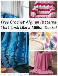 Free Crochet Afghan Patterns That Lok Like a Million Bucks