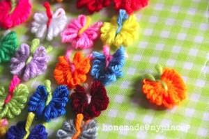 Mini Yarn Butterflies