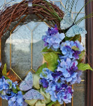 Gorgeous Butterflies and Flowers Wreath