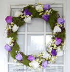 Tulip and Moss Spring Wreath