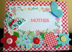 Spring Blooms Handmade Mother's Day Card