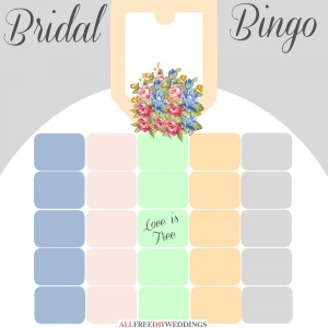 Bridal Shower Games Bingo