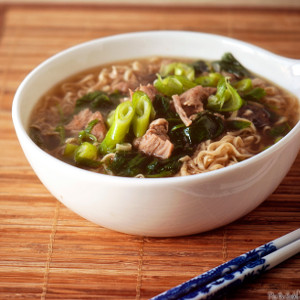 Pork and Ramen Noodle Soup