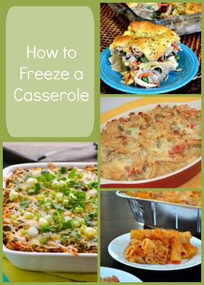 How to Freeze a Casserole