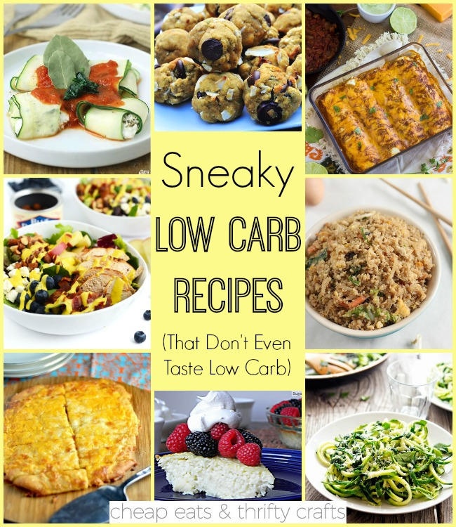 Sneaky Low Carb Recipes