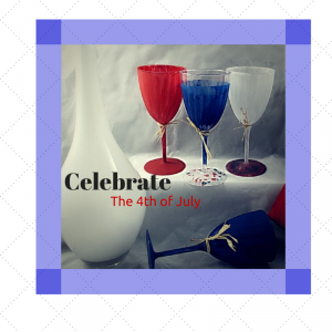 4th of July Painted stemware