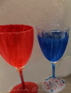 july the 4th painted stemware
