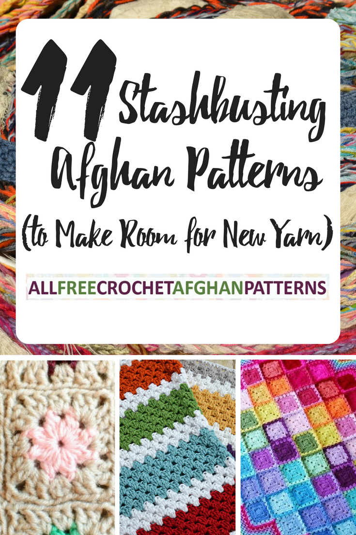 11 Stashbusting Crochet Afghan Patterns to Make Room for New Yarn ...