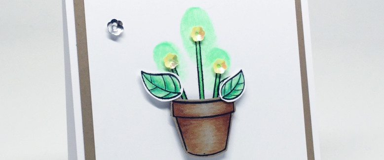 Homemade Card: 'Think Green' Earth Day Card!