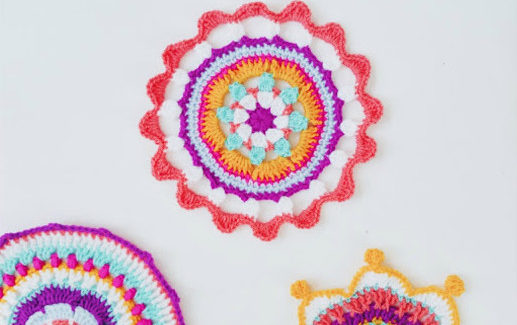 3 Free Crochet Patterns for Mandalas