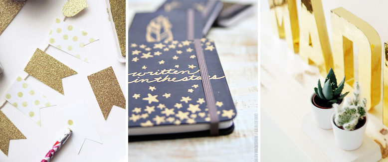 20 DIY Gold Paper Crafting Projects
