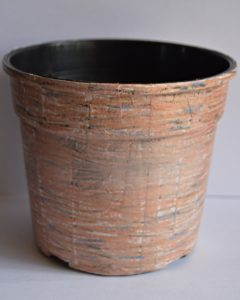 Faux Wooden Flower Pot4