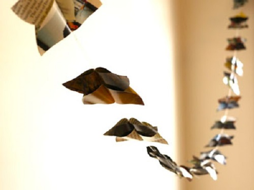 Recycled Paper Butterfly Garden