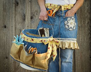 Denim Apron Basket