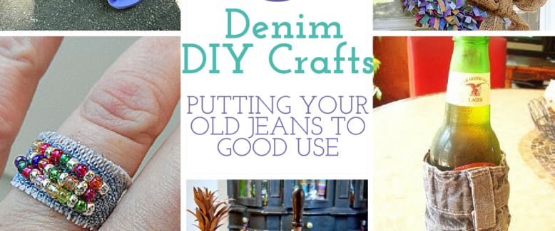 12 DIY Denim Crafts: Putting Your Old Jeans to Good Use