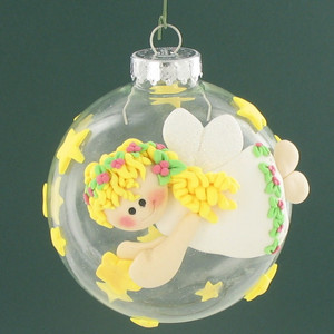 Angelic Clay Embellished Ornament